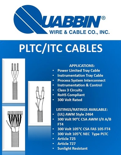 Power Limited Tray Cable (PLTC)