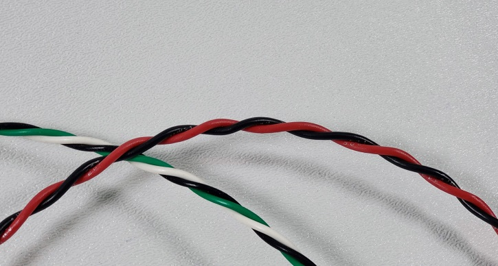 TXL Automotive Wire 22 AWG DARK GREEN w// WHITE Stripe Bulk 25 ft Primary Copper